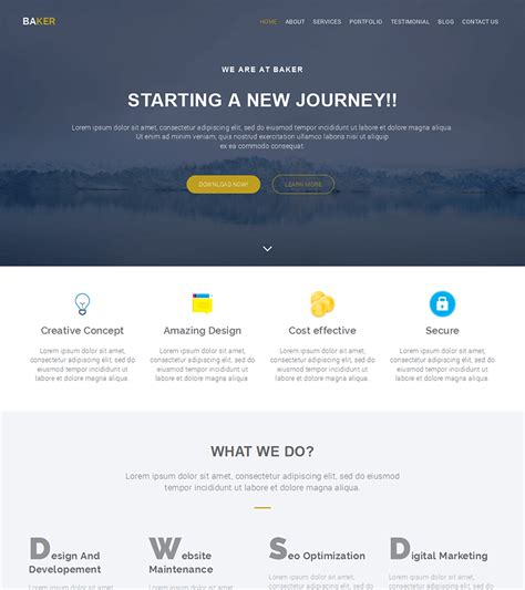templates bootstrap site free bootstrap themes and website templates
