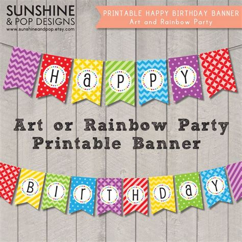 printable brave birthday banner 17 best images about turning 9 an artist party on