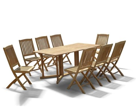 Folding Outdoor Table And Chairs Shelley Gateleg Folding Garden Table And Chairs Set 8 Seater Dining Set