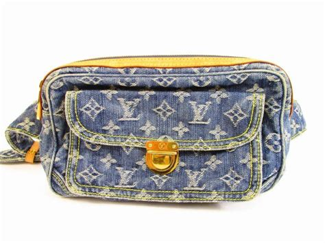 louis vuitton monogram denim blue fannywaist packs bum