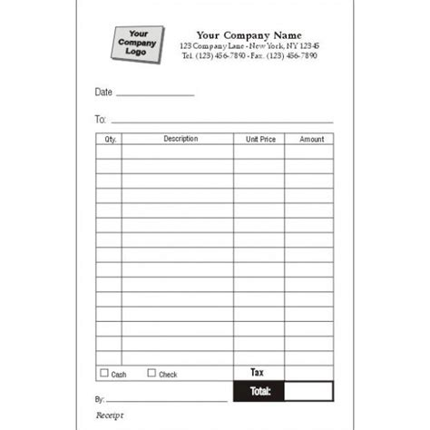 receipt for items received template receipt forms standard forms