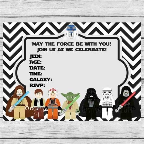 printable star wars invitations 35 best images about fiesta star wars star wars party