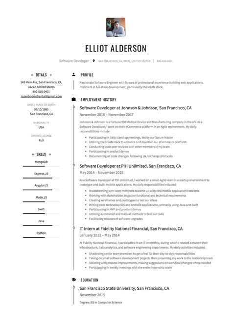 Developer Resume Template by Software Engineer Resume Sles Rig Welder Sle Resume