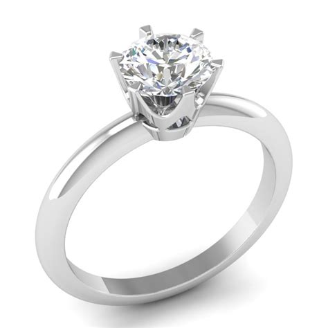 belgium diamonds 6 prong signature setting