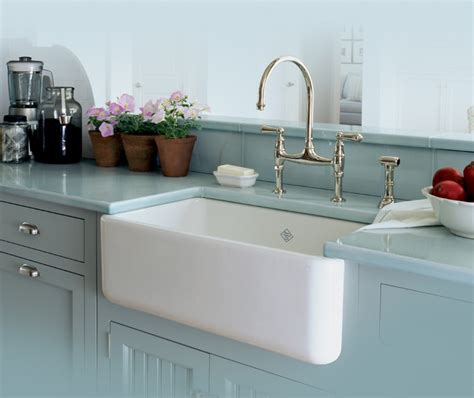 Apron Kitchen Sinks Rohl Single Bowl Fireclay Apron Kitchen Sink Traditional Kitchen San Luis Obispo By