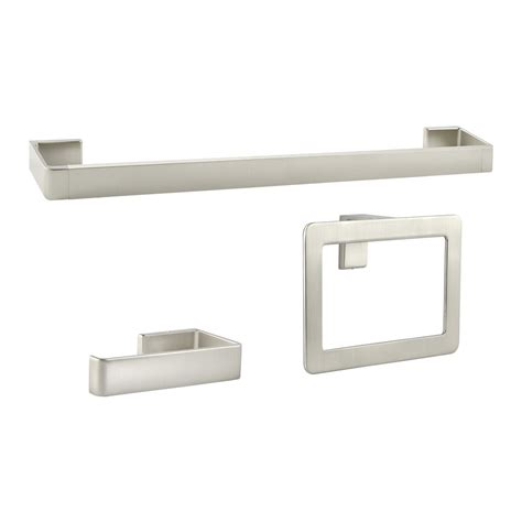 Pfister 3 Piece Modern Brushed Nickel Decorative Bathroom Modern Bathroom Hardware