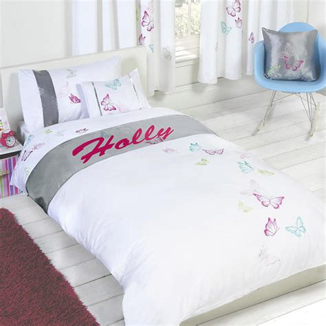 personalised butterfly duvet cover with pillow