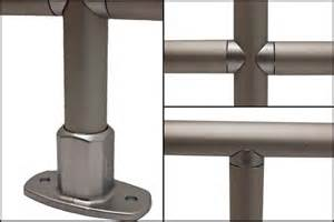 Aluminum Handrail Fittings kee lite smooth aluminum railing fall protection