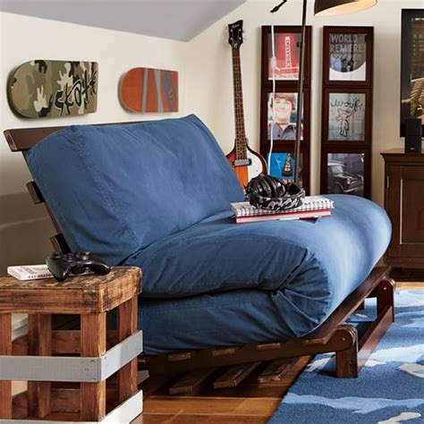 Futon For Back by Washed Twill Futon Pbteen