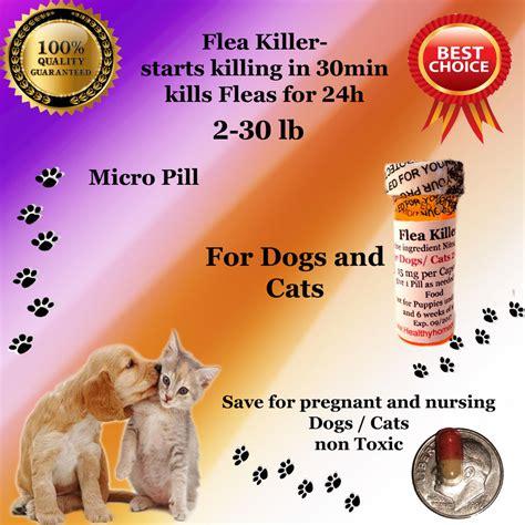 flea killer for dogs flea killer dogs cats 2 30lb 6x micro capsules generic capstar sealed ebay