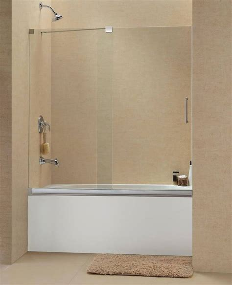 Dreamline Sliding Shower Doors Dreamline 60 Quot X 58 Quot Mirage Brushed 3 8 Quot Shdr 1960582 Sliding Shower Tub Door Ebay