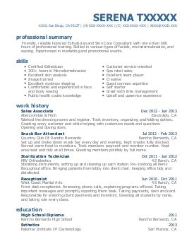 Resume Elysium by Esthetician Resume Exle Elysium Salon Hudson