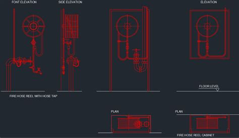 fire department valve cabinet fire hose cabinet free cad blocks and cad drawing