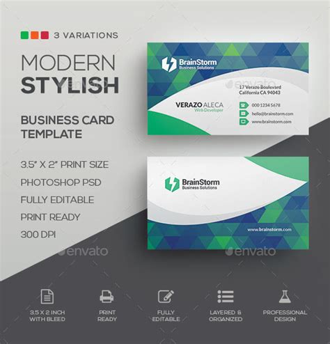 Modern Business Card Templates Free Psd by The Best Modern Business Cards Templates In Psd 2018