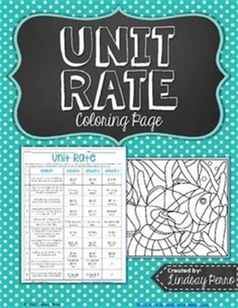 unit rate coloring page 6th grade common core math on pinterest sixth grade