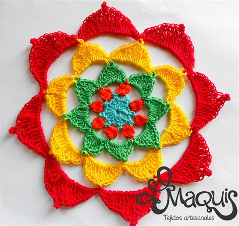 imagenes de mandalas tejidos al crochet crochet mandala maquis tejidos