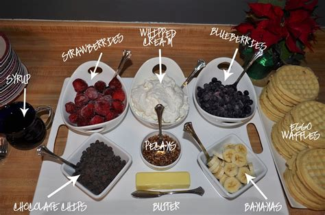toppings for waffle bar easy breakfast waffle bar eggoyourway working mom blog outside the box mom