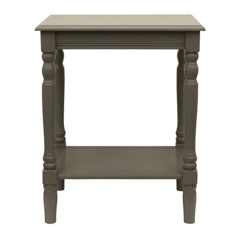 decor therapy end table decor therapy simplify edge gray end table fr1862 the