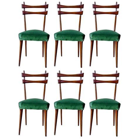 velvet dining chairs australia italian mid century dining chairs in velvet 1950s set of