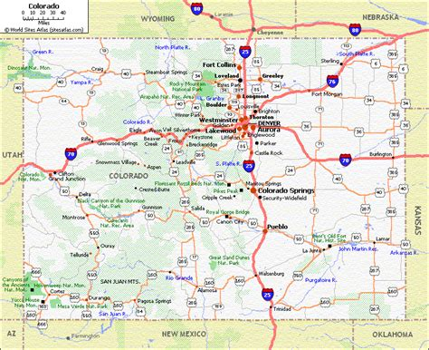 colorado road map colorado maps and state information