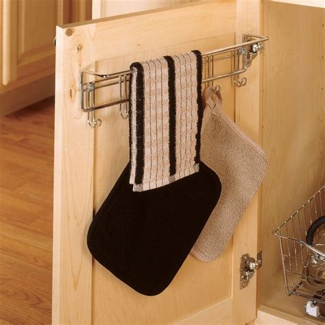 Kitchen Cabinet Towel Rack Cabinet Door Hook Towel Rack Hanging Small Organizer Wall Mount Bathroom Kitchen Ebay