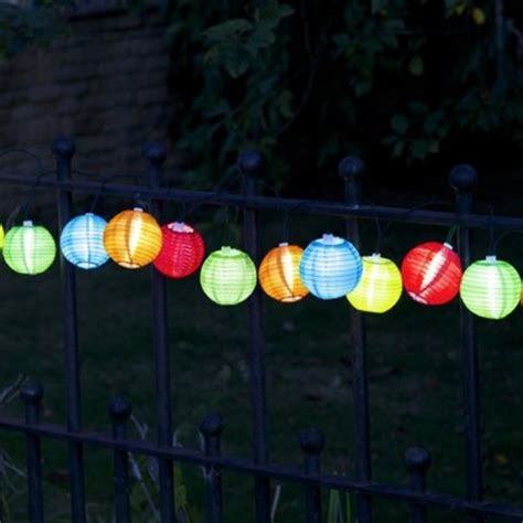 solar chinese lantern garden lights