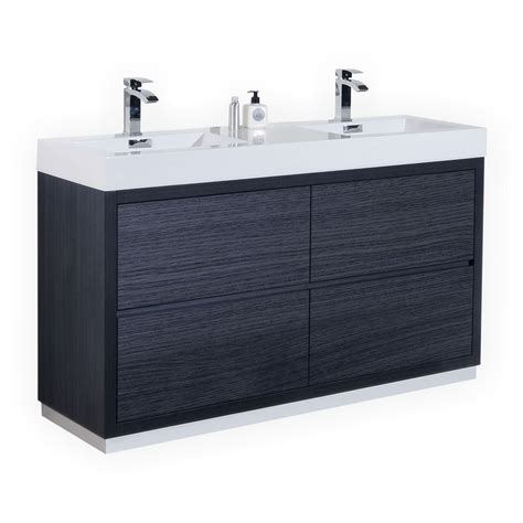 modern bathroom vanity 60 inch 60 inch sink gray oak finish free standing modern