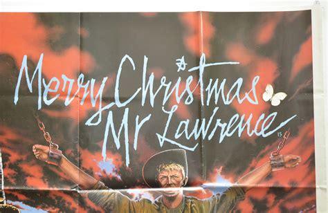 merry christmas  lawrence original cinema  poster  pastposterscom british quad