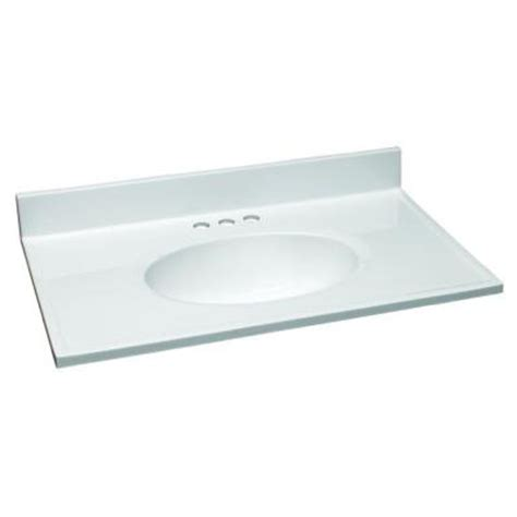 design house 31 in w cultured marble vanity top in white