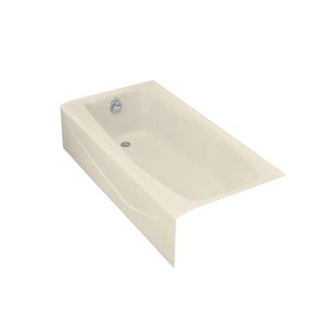 villager bathtub kohler villager 5 ft left hand drain rectangular alcove