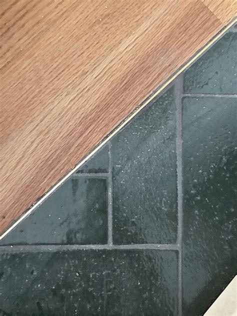 sarah sherman samuel trullbrook kitchen progress thin brass schluter transition between tile