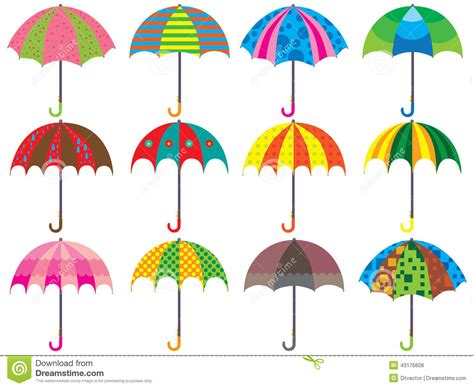 umbrella design set stock vector image 43176606