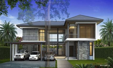 two level homes modern house modern style 2 story home plans for construction in thai