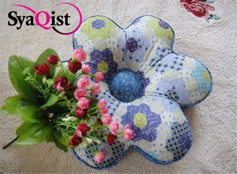 Bantal Sofa Isi 30x30cm Kulit Kain Cotton flower cushion bantal bunga kedai cadar patchwork murah berkualiti