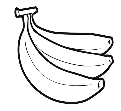 banana color free coloring pages of bunch of bananas