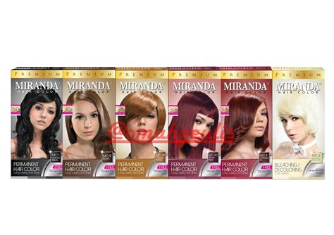 Miranda Magic Hair Color Shoo jual pewarna rambut miranda hair color premium colour