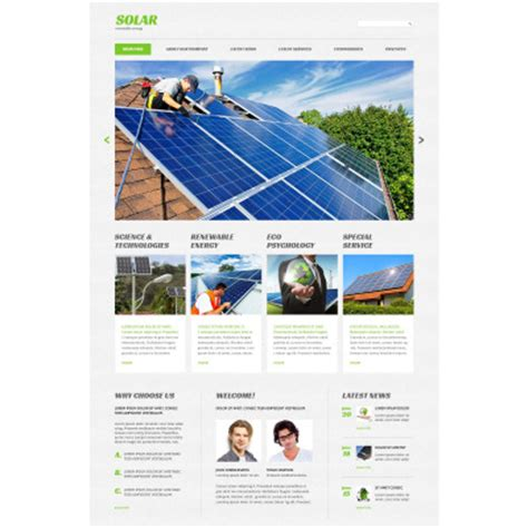 Solar Energy Website Templates Solar Website Templates