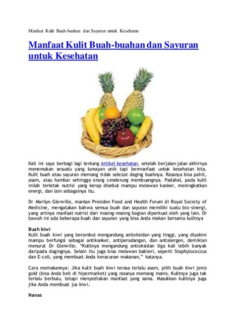 Sikat Buah Dan Sayuran Multifungsi manfaat kulit buah
