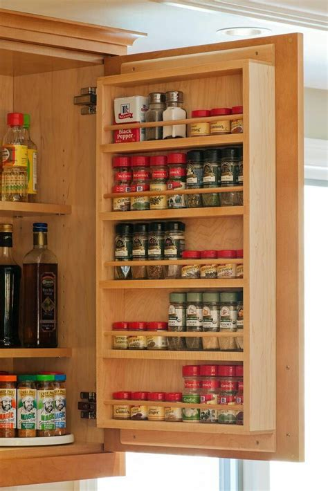 Large Wooden Spice Racks Wall Mounted 25 Best Ideas About Kitchen Cabinet Storage On Pinterest