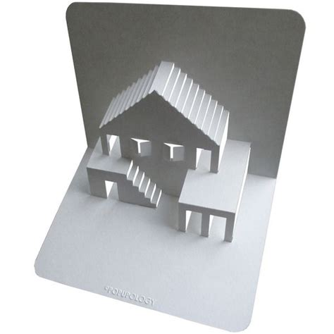 house pop up card template origamic architecture quot simple house 3 quot with pdf