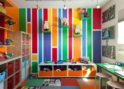 kids room interior design with full color designs ideas created in the play area for kids 40 ideas colors