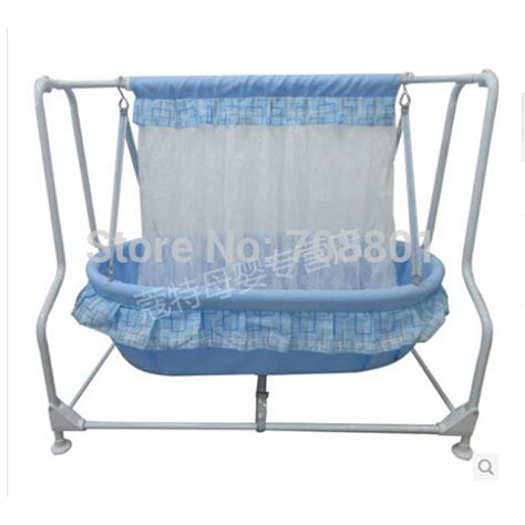 baby swing bassinet baby swing cradle steel frame 100 cotton baby mat