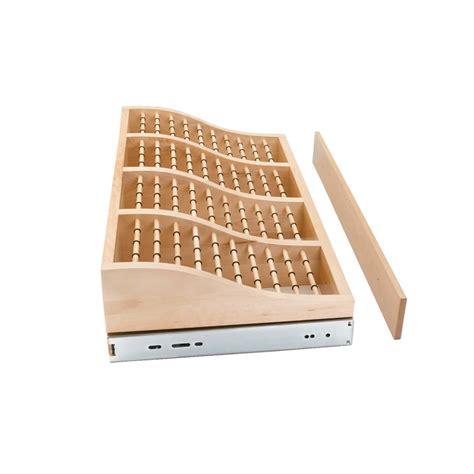 rev a shelf 24 quot tie rack wood cwtr 241041 2 cabinetparts
