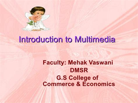 Does School Of Economics Offer An Mba by P Pt On Multimedia Mba I Sem