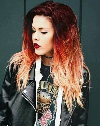 ombre with red and blonde unique ombre hairstyle looks 2016 haircuts hairstyles