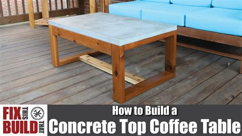 concrete outdoor coffee table diy concrete top outdoor coffee table how to build