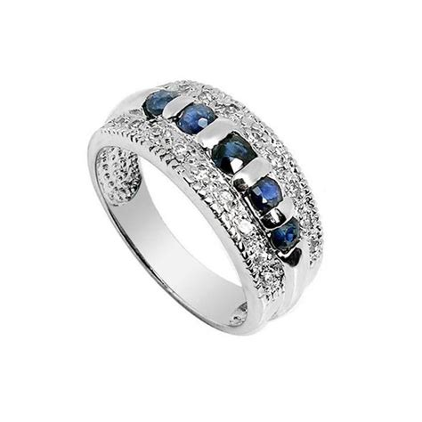 75 carat sapphire engagement ring on silver jewelocean