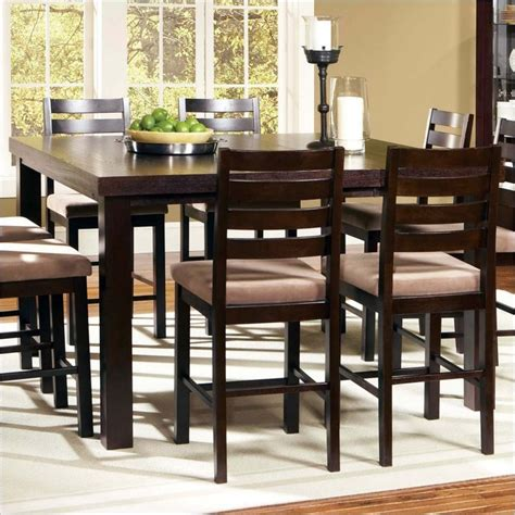 tall dining room table steve silver boulevard 5 piece counter height dining table