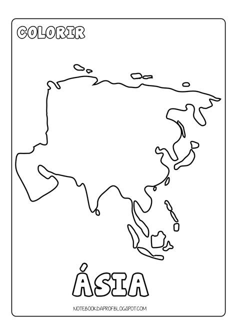 Colorir Continentes | Atividades de geografia, Continentes