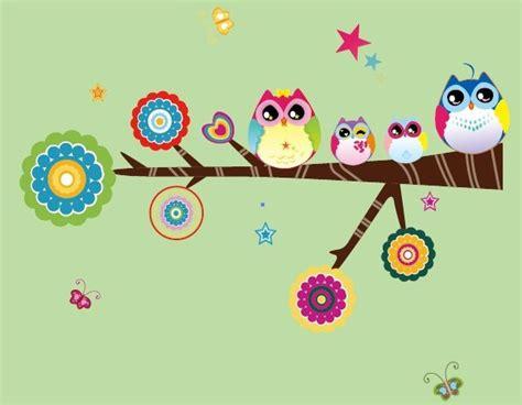 Tree And Owl Wall Stickers wallpaper de buhos animados imagui